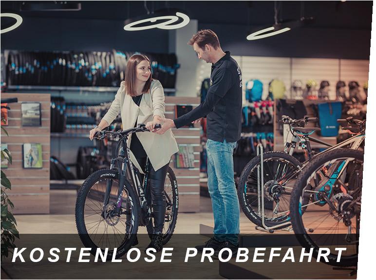 Kostenlose Probefahrt, ein E-Bike Service von Zeller in Passau
